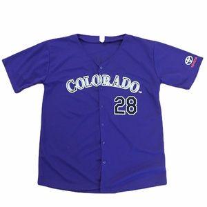 Colorado Rockies Purple Jersey 28 Nolan Arenado XL